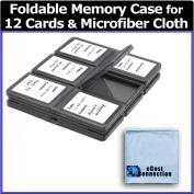 eCost 12 pc Foldable Memory Card Case + Microfiber Cloth