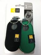 Case Logic USB Flash Drive Case 2PK (Black/Green) USB-202