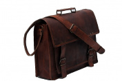 True Grit Leather Michigan Leather 36cm Laptop Messenger Briefcase Bag