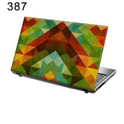 TaylorHe 40cm 38cm Laptop Skin Vinyl Decal with Colourful Patterns and Leather Effect Laminate MADE IN BRITAIN for Samsung /ASUS/Acer/Toshiba