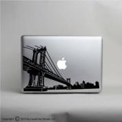 Brooklyn Manhattan Bridge skyline laptop vinyl decal © 2013 Laced Up Decals