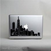 The Windy City Chicago Skyline laptop decal © 2013 Laced Up Decals