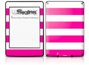 Psycho Stripes Hot Pink and White - Decal Style Skin fits Amazon Kindle Paperwhite