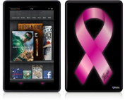 Amazon Kindle Fire (Original) Decal Style Skin - Hope Breast Cancer Pink Ribbon on Black