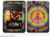 Tie Dye Peace Sign 109 Decal Style Skin fits Amazon Kindle Fire HD 18cm