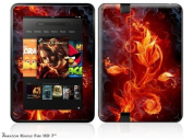 Fire Flower Decal Style Skin fits Amazon Kindle Fire HD 18cm
