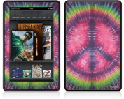 Amazon Kindle Fire (Original) Decal Style Skin - Tie Dye Peace Sign 103