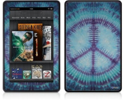Amazon Kindle Fire (Original) Decal Style Skin - Tie Dye Peace Sign 107