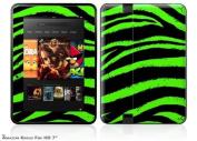 Zebra Green Decal Style Skin fits Amazon Kindle Fire HD 18cm