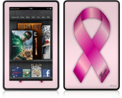 Amazon Kindle Fire (Original) Decal Style Skin - Hope Breast Cancer Pink Ribbon on Pink