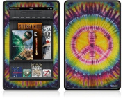 Amazon Kindle Fire (Original) Decal Style Skin - Tie Dye Peace Sign 109