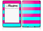 Psycho Stripes Neon Teal and Hot Pink - Decal Style Skin fits Amazon Kindle Paperwhite