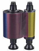 R3013 Evolis 1/2 panel YMCKO Colour Ribbon - 400 prints