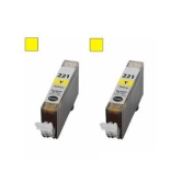 2-Pack Yellow Non-OEM Ink Cartridge for CLI-221Y Canon Pixma Canon P3600 iP4600 IP4700 MP560 MP620 MP640 MX860 MP980