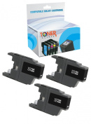 Toner Clinic ® TC-LC75BK3PK 3 Black Compatible Inkjet Cartridge for Brother LC-75BK LC-71BK LC-75 For use in for Brother MFC-J280W MFC-J425W MFC-J430W MFC-J435W MFC-J5910DW MFC-J625DW MFC-J6510DW MFC-J6710DW MFC-J6910DW MFC-J825DW MFC-J835DW - 3 Pack Co .