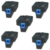 Amsahr 02BKSY(C8721WN) Remanufactured Replacement HP Ink Cartridges with 5 Black Cartridges