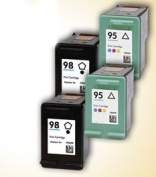 4 Pack Axiom (TM) Remanufactured Compatible HP 98 95 Ink Cartridge For HP Officejet 6310 6310xi Deskjet 5940xi