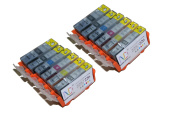 12 Pack Compatible Canon CLI-226 , PGI-225 2 Small Black, 2 Cyan, 2 Grey, 2 Magenta, 2 Yellow, 2 Big Black for use with Canon PIXMA MG6120, PIXMA MG6220, PIXMA MG8120, PIXMA MG8120B, PIXMA MG8220. Ink Cartridges for inkjet printers. CLI-226BK , CLI-226 ..