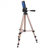 Sturdy Durable Lightweight Tripod For Use With Kodak PlaySport Zx5 Camcorder And Carry Case