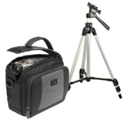 Pro Power Photo and Video KIT - High-quality light weight Tripod and Camcorder / Digital Camera Bag for CANON Optura 600 Coach KIT MVX4i