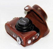 "MegaGear ""Ever Ready"" Protective Dark Brown Leather Camera Case, Bag for Panasonic Lumix Lx7"