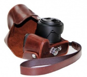 "MegaGear ""Ever Ready"" Protective Brown Leather Camera Case, Bag for Panasonic Lumix DMC-FZ200"