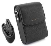 MegaGear Protective Black Leather Camera Case, Bag for Panasonic Lumix DMC-ZS30, DMC-ZS25, DMC-ZS20, Nikon COOLPIX L28