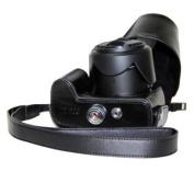 "MegaGear ""Ever Ready"" Protective Black Leather Camera Case, Bag for Panasonic DMC-FZ200"