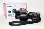 "Rainbowimaging ""Ever Ready"" Protective Black Leather Camera Case , Bag for CANON EOS M EF-M Camera"