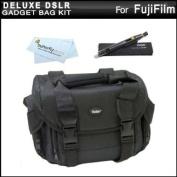 Deluxe Large Digital Camera Gadget Bag / Case For Fuji Fujifilm FinePix HS50EXR, HS35EXR, HS30EXR, HS25EXR, HS20EXR, SL1000, SL300, S8200, S6800, S4800, S4500, S4200, X-M1 Digital Camera + Lens Pen Cleaning Kit + MicroFiber Cleaning Cloth