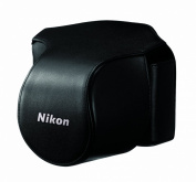 Nikon CB-N1000SA Black Leather Body Case Set for Nikon 1 V1 Digital Camera