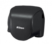 Nikon CB-N4000SA Leather Body Case Set for Nikon 1 V2 Digital Camera - Black