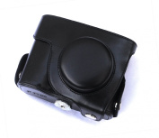 "Rainbowimaging ""Ever Ready"" Black Protective Leather Camera Case , Bag for Nikon Coolpix P7700"