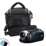USA Gear Portable HD Video Camcorder & DLSR Camera Bag Case w/ Bonus Cleaning Kit- Works with Canon , Sony , Panasonic , Toshiba and More!