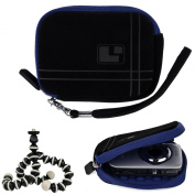 Aero Bump Protective Microsuede Sleeve Case (Blue) For Canon PowerShot Point And Shoot Digital Cameras + Mini Tripod
