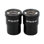 AmScope Two 10X Super Widefield Microscope Eyepieces