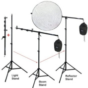 LINCO Lincostore Photography Video Studio Pro 3-1 Boom Stand,Light Stand,and Reflector Holder