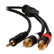 Wired Home 35MRM6 3.5mm to RCA Stereo Audio Cable 6 ft.