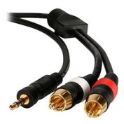 Wired Home 35MRM12 3.5mm to RCA Stereo Audio Cable 12 ft.