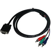 Skque 1.8m VGA PLUG TO RCA COMPONENT CABLES FOR PC TV LCD