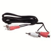 1.8m RCA Stereo Male to RCA Stereo Piggyback Male and Female Cable
