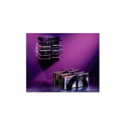 CD Wave Rack for 21 CDs - Free Standing or Wall Mountable. Connectable for Larger Storage.