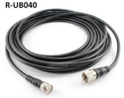 CablesOnline 12m RG8x Coax UHF (PL259) Male to BNC Male Plug 50 OHM Antenna Ham Radio Cable