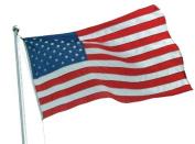 Vestil AFL-20 Nylon United States Flags, 1.5m Width, 1.5m Height