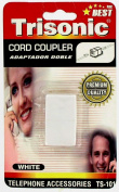 Telephone Cord Coupler - White
