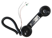 Amplified Receiver Handset With Cord, Provides Improved Telephone Reception For The Hearing Impaired, Black