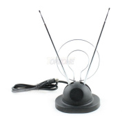 Topzone Universal Rabbit Ear VHF Colour Antenna Improves Reception Switch.