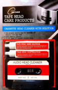 Audio Tape Cassette Head Cleaner w/ 2 Cleaning Fluids Care Wet Maintenance Kit
