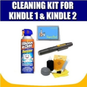 Cleaning Kit For The Kindle 1 and Kindle 2 and Exclusive Complimentary FREE Super Deal Micro Fibre Cleaning Cloth
