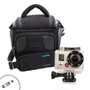 USA Gear Lightweight Durable Camera Bag With Padded Interior Lining for GoPro HD HERO3 HERO2 Cameras